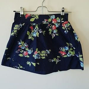Aeropostale navy blue floral mini skirt size xs